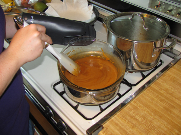Making Butterscotch Ganache
