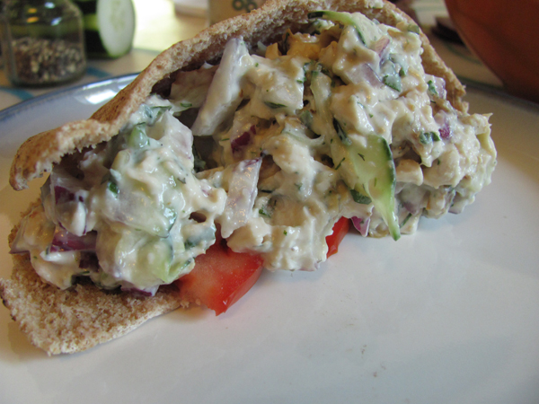 Tzatziki Chicken Salad Pita